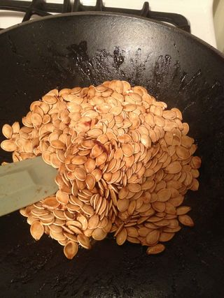 Bubbling in the Cauldron...Roasted Pumpkin Seeds
