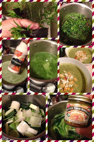 Kitchen Apothecary ~ Fresh Herb and Buttermilk Soup